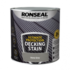 RONSEAL ULTIMATE DECKING STAIN STONE GREY 2.5 LITRE