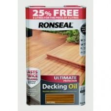 RONSEAL ULTIMATE DECKING OIL NATURAL 5 LITRE