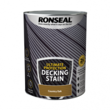 RONSEAL ULTIMATE DECKING STAIN COUNTRY OAK 5 LITRE